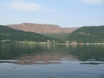 Tablelands from the waters of Bonne Bay