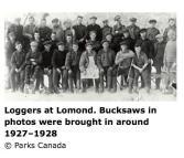 Loggers at Lomond 1927-1928